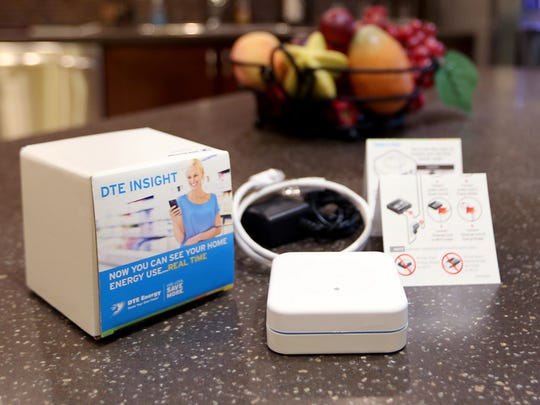 DTE Insight Bridge box that helps monitor the electronic usage in your home at the DTE model home in Detroit on Tuesday, Oct. 20, 2015.
