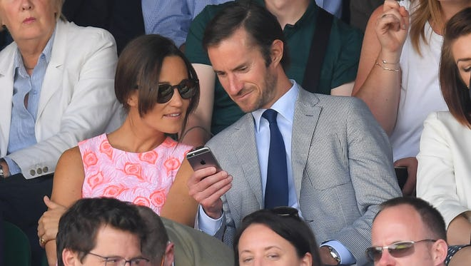 Pippa Middleton and James Matthews, photographed at Wimbledon on July 6, 2016, in London, announced their engagement July 19.