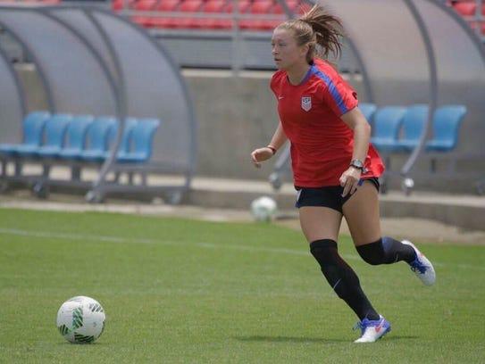 U.S. Under-20 Women's National Team player Courtney