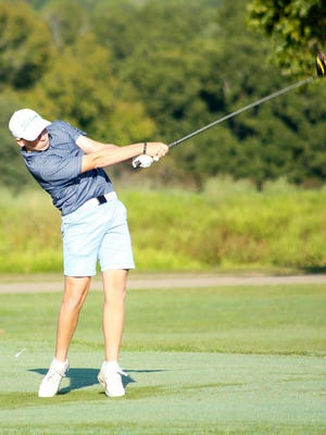 Glen Rose's Ethan Howard tees off on the seventh hole on the Links Course last Saturday morning at Squaw Valley Golf Course.