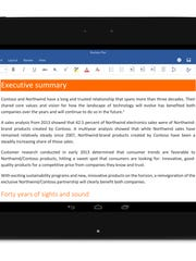 This screen shot provided by Microsoft shows the Android