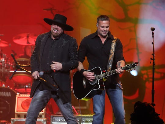 Montgomery Gentry performs during the Randy Travis