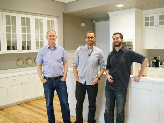 Execs from Vivint in the test smart home at company