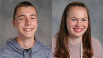 Isaac Bock and Carly Coons won National Merit Scholarships