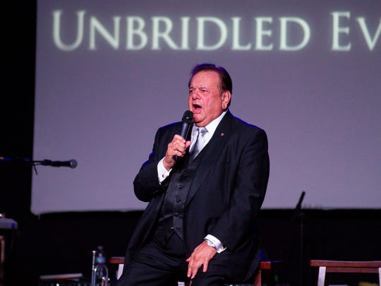 """Paul Sorvino performs """"My Old Kentucky Home"""" at the 7th annual Unbridled Eve Gala Friday, May 4, 2018."""