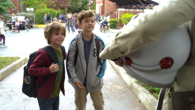 """Jacob Tremblay and Noah Jupe appear in a scene from """"Wonder."""""""