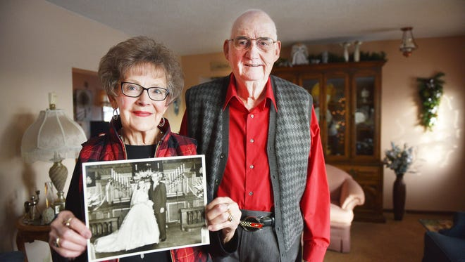 Carolyn and Clare Vollan talk about the group they are a part of, Wedded Band, at their home Tuesday, Jan.9, in Sioux Falls. The Vollans have been married for 61 years.