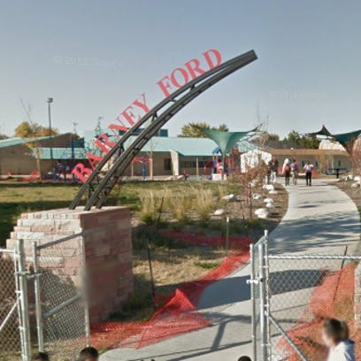 Police say an employee at Ford Elementary School was