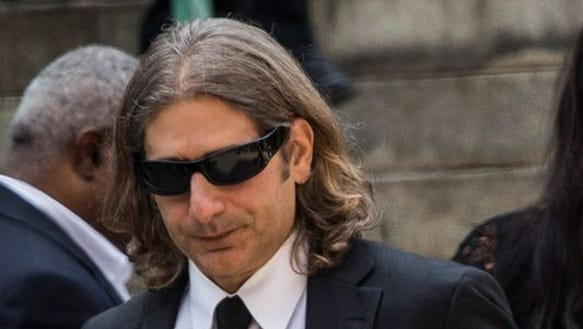 Actor Michael Imperioli leaves the funeral for James