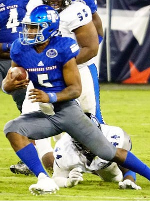 Tennessee State quarterback Treon Harris is in danger of losing his starting position heading into Saturday's game at Eastern Kentucky.