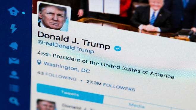 President Trump's Twitter feed.