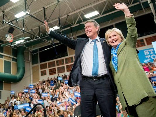 Hillary Clinton, John Hickenlooper