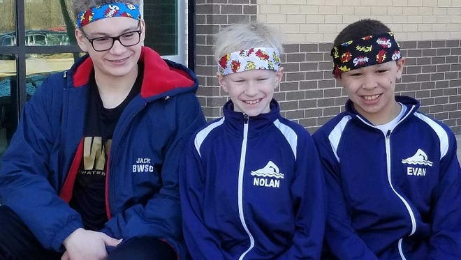 Blue Water Swim Club athletes Nolan Moore, Evan Trudeau and Jack Betcher all placed at the state finals.