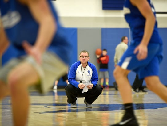 Thomas Smith, Cedar Crest boys' basketball coach