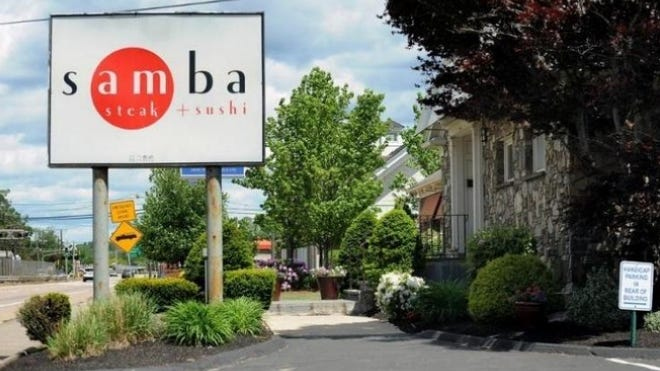 Samba Steak & Sushi in Framingham was hit with a $2,500 fine for a fifth liquor-license violation. The city's Board of License Commissioners warned that another violation could result in the restaurant's permanent closure.