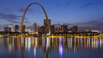 Missouri - The Gateway Arch, also known as the gateway to the west, is a great visual landmark and famously marks the St. Louis skyline since it was constructed in 1963.