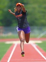 Clemson's Iana Amsterdam won the triple jump at the