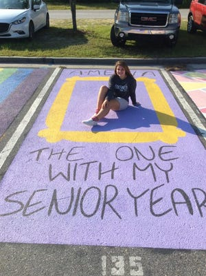 "Seniors at Effingham College and Career Academy painted 15 parking spots this year. ""In a school year that is so different, we still want to keep it special for our seniors,"" said Assistant Principal Mark Weese. ""The senior parking paintings allow the students to express their creativity and showcase their artistic skills, while beautifying our campus with their personal touches. …The students love the event and it gives them a sense of pride in the school in which they now lead as seniors. This is a great group of seniors who are resilient and have worked hard to be where they are."""