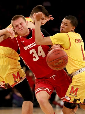 Despite playing most the season with a shoulder injury, UW guard Brad Davison had a successful freshman campaign.