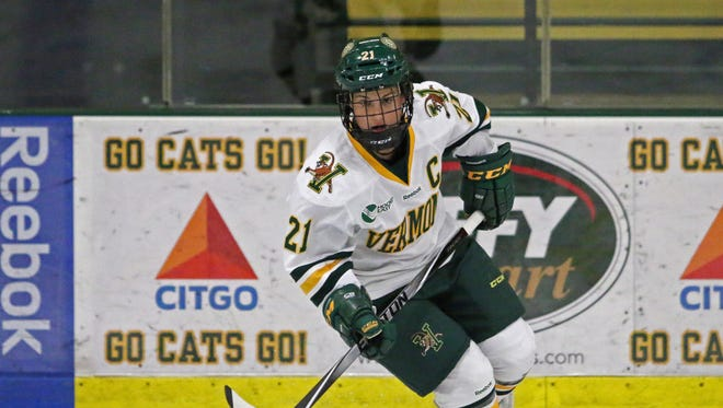 University of Vermont's Amanda Pelkey will miss the next two games as she plays for the U.S. in the Four Nations Cup.
