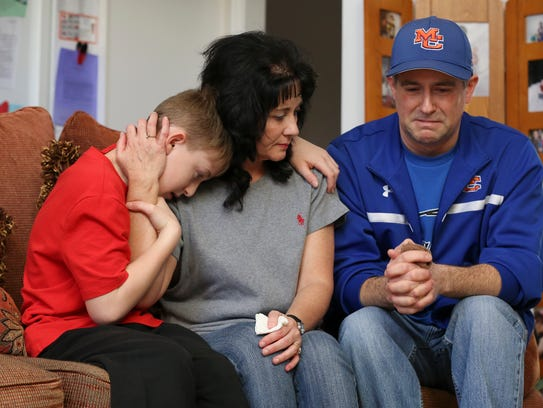 Brian Cope, right, became emotional as he talked about