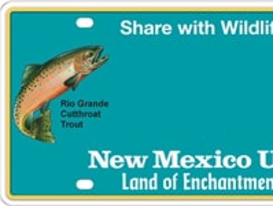 New license plate to feature new mexico state fish for Mexico fishing license