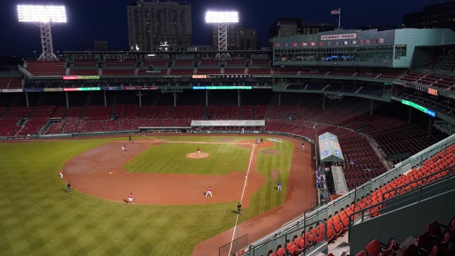 Just as when the Red Sox hosted the Toronto Blue Jays for an exhibition game Tuesday night, the stands will be void of fans when the season begins Friday night at Fenway Park.