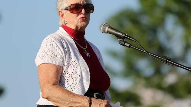 Rep. Virginia Foxx attends a June 7, 2020, vigil for George Floyd at the Rotary Pavilion in Gastonia.