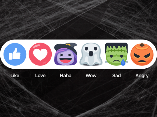Laugh like a witch with Halloween Facebook reactions