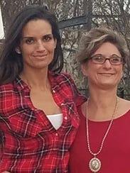 Nueces County Clerk Kara Sands poses with sister Cecilia
