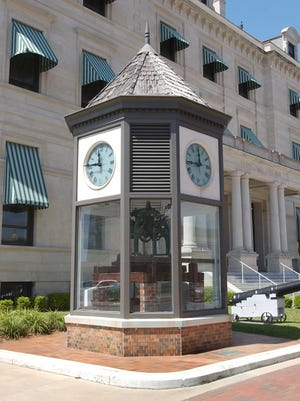 The large clock in downtown Pensacola near the courthouse has been part of the community's history for more than 125 years.