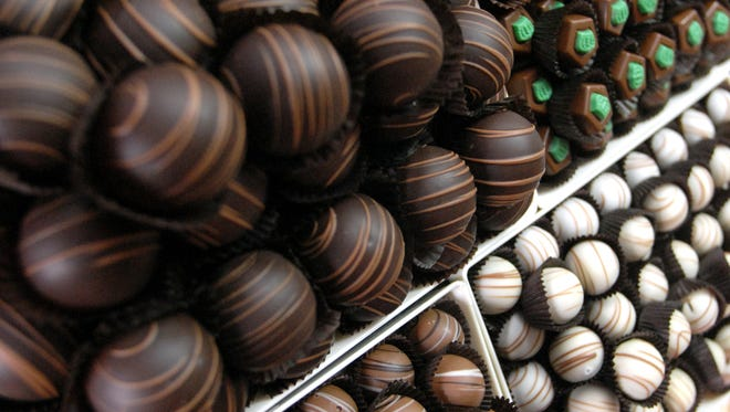 Alps Sweet Shop in Beacon offers a selection of gluten free chocolate, perfect for Valentine's Day giving.