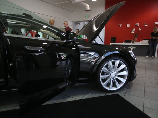 Tesla Motors opened a showroom in Cathedral City on May 9, 2014.