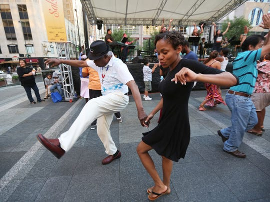 Salsa on the Square at Fountain Square.