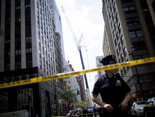 Ten Injured After Crane Accident In Manhattan