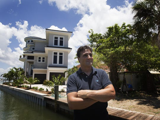 Some of the large homes that Joe Orlandini is building on Fort Myers Beach are on properties that have had homes on them and are torn down.