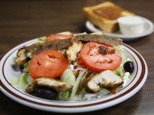 The Greek salad at Mr. Filet in downtown Des Moines.