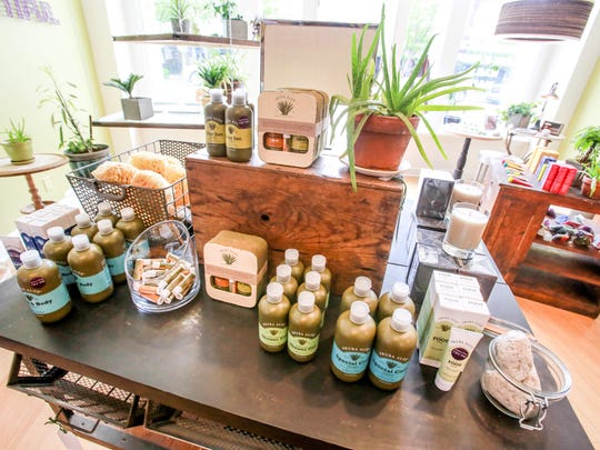 Aruba Aloe products, the oldest aloe company in the world founded in 1890, available at Eva Maison wholesome beauty boutique, 912 E Westfield Blvd, in Broad Ripple, Thursday May 14th, 2015.