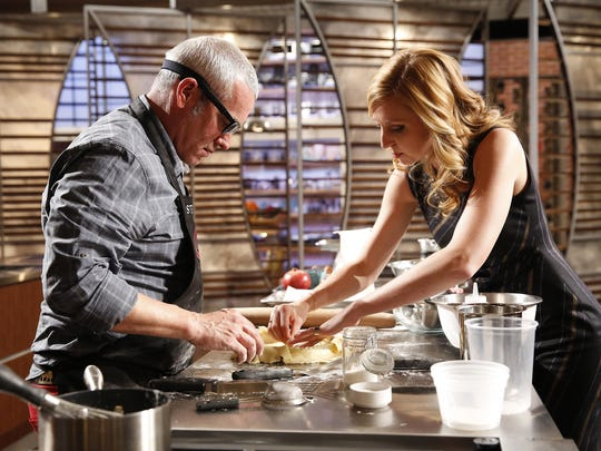 "MasterChef contestant Stephen Lee and judge Christina Tosi in the ""Moo-vers And Bakers"" episode airing July 22 on FOX."
