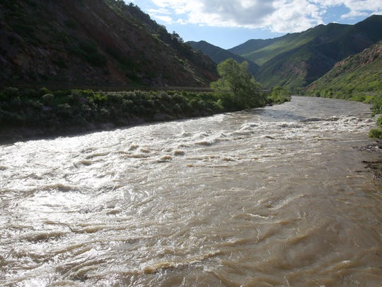 The Colorado River near Rifle, Colorado in June 2015.