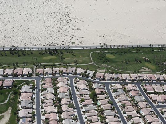 The Del Webb Sun City development in the unincorporated area of Palm Desert was built next to the Coachella Valley Preserve, which includes federally protected fringe-toed lizard habitat.