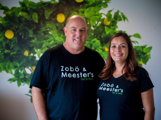 Bart Groendycke and his wife, Carmen Shelton, the owners of Zobo and Meester's.