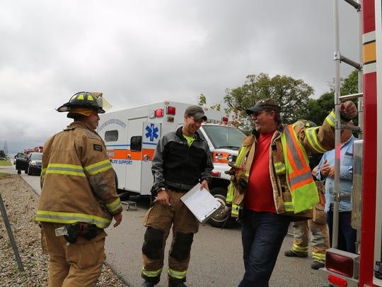 Crews from the Tippecanoe County Sheriff's Office, Battle Ground Fire Department and the Tippecanoe County EMS responded to a rollover accident Saturday morning.