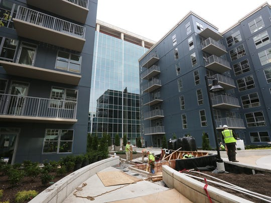 Construction is underway at Radius at The Banks. which