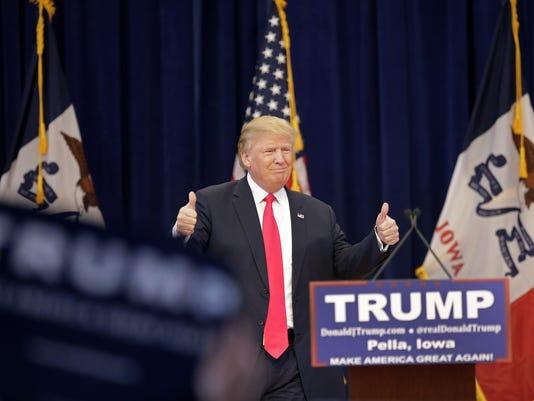 Donald Trump Campaigns In Iowa Ahead Of Caucuses