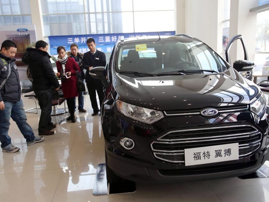 Ford says Jan China auto sales up 19 pct