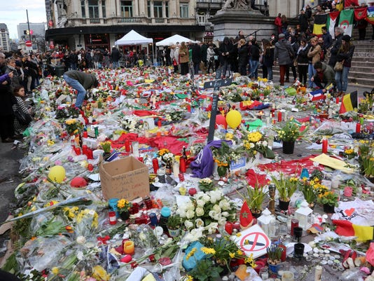 BESTPIX - Cancelled March Fails To Deter Gathering At Place de La Bourse In Brussels