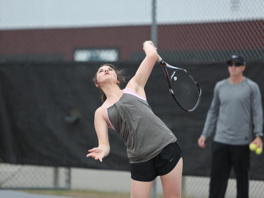 Chiles junior Anna Vinson went undefeated at No. 3 singles this season, including a win in the state quarterfinals on Wednesday.