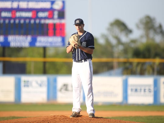 Maclay senior pitcher Max McKinley threw all 10 innings in a 4-2 win at University Christian on Thursday night in a regional semifinal. McKinley struck out 13, walked just one and gave up six hits to help the Marauders reach the regional final against NFC.