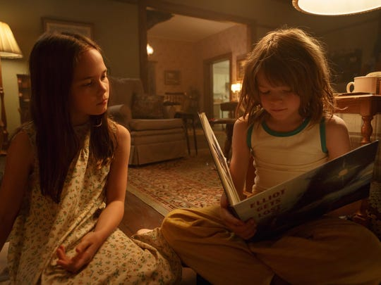 """Oakes Fegley is Pete and Oona Laurence is Natalie in """"Pete's Dragon."""""""